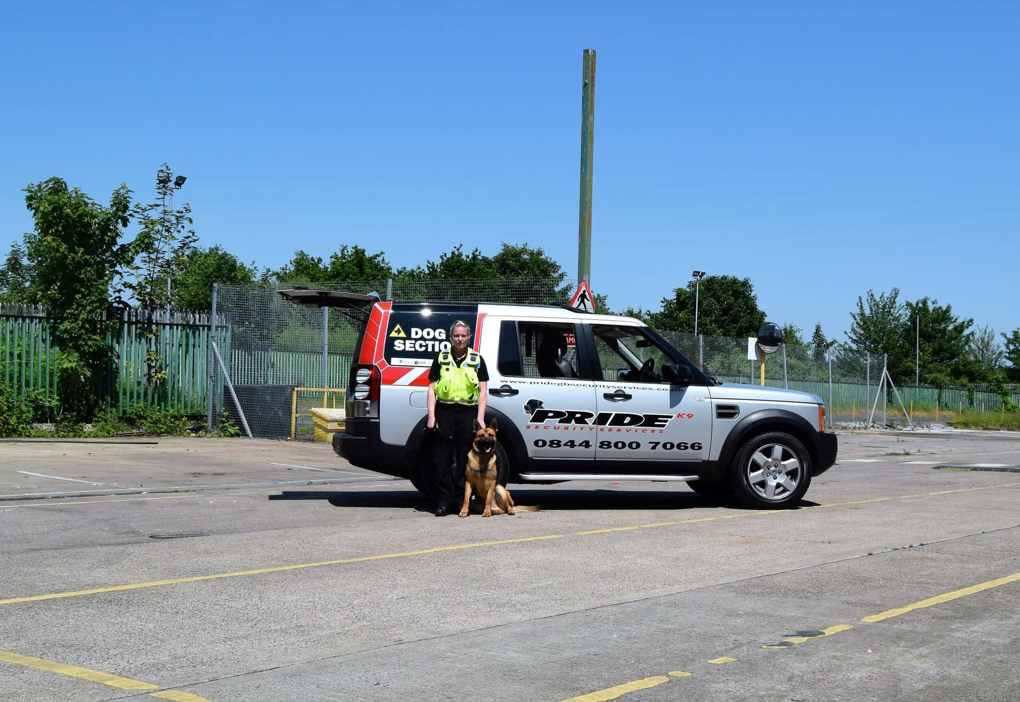 Security Services Pride GB Handler and Dog